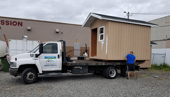 Tiny House Moving In